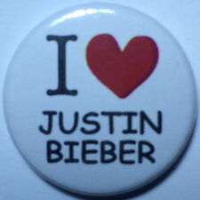 BUY 2 & GET 1 FREE - I Heart / Love Justin Bieber  - 25mm Pin Button Badge Music
