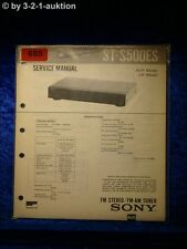 Sony Service Manual ST S500ES Tuner (#0655)