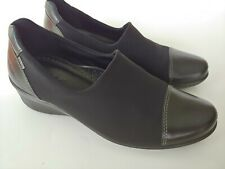 Ecco Gore-Tex Black Stretch Slip On Wedge Pumps Women's Shoes Size 38 US 7 - 7.5