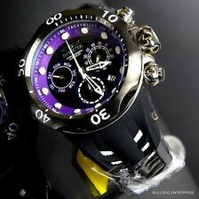 Invicta Venom Cobra Chronograph 52mm Swiss Made Black Purple Watch LE New