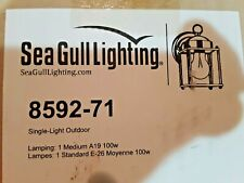Sea Gull Lighting New Castle Antique Bronze Outdoor Exterior Wall Light Fixture