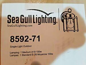 Sea Gull Lighting New Castle Antique Bronze Outdoor Exterior Wall Light Fixture
