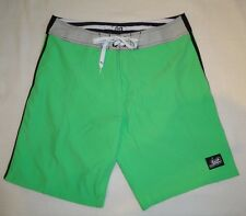 NWOT Lost Board Shorts Swimsuit Sz 32 Block Colors Quick-Dry Fabric Bold Green