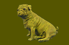 SUPER DEAL Little seated pug - bronze dog sculpture - Vienna Austria Bronze