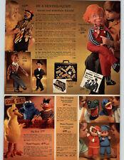 1973 PAPER Ad Ventriloquist Puppet Big Bird Gloppet Watch Buffy Jody Cat Hat