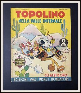 ⭐ Albi d'Oro Anteguerra Disney # 6 TOPOLINO VALLE INFERNALE 1937- DISNEYANA.IT ⭐