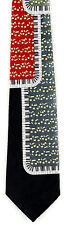 Piano Keyboard Art Mens Necktie Music Neck Tie Pianos Musicial Instrument New