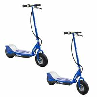 Razor E300 Electric 24 Volt Motorized Ride On Kids Scooter, Blue (2 Pack)