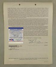 David Niven Signed Representation Contract James Bond CASINO ROYALE PSA/DNA COA
