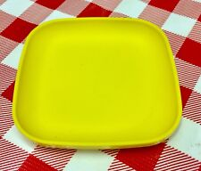 VTG Kid's Play Food Tupperware Tuppertoy MINI PLATE Replacement YELLOW