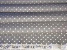 Rosa y hubble Gris y Blanco LUNARES Tela de la impresión 100% Algodón Fat Quarters