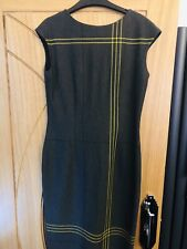 M&S Collection Grey With Mustard Detail Dress Size 10 - Classic Design Business