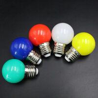 5X(Lampadine E27 a Led - E27 1W Lampada a Globo Led smerigliato colorata 22 Y9A6