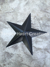 "ONE (1) 8"" Satin BLACK Barn Star Primitive Country Decor - FREE SHIPPING!"