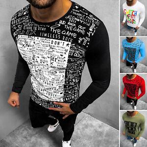 Longsleeve Print Langarmshirt Pullover T-shirt Sweatshirt Herren OZONEE 14668