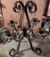 Vintage Ornate Tall Cast IRON Decorative 4 Candle Holders for Table Chandelier