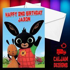 Bing cbeebies-Personalised Birthday card, Brother, sister, daughter Son C003