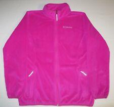 Boys Girls Columbia Sportswear Fleece Jacket Coat Youth Large 14/16 Pink