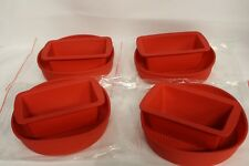 VERILICIOUS KASTENFORM/BROTBACKFORM & KUCHENFORM SILIKON SET 4x Paar  IN ROT