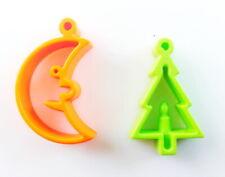N2117 PLAYMOBIL NOEL Lampion Orange en Forme de Croissant de Lune /& Support