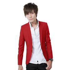 Stylish Men's Casual Slim Fit One Button Suit Blazer Leisure Coat Jacket Tops BM