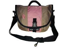 TIMBUK2  Messenger Crossbody Bag Adjustable Strap Nylon Pink Beige