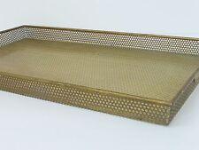 MATHIEU MATEGOT : SUPERB & RARE PLATEAU SHEET METAL PERFORATED & GLASS 50