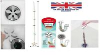 Kitchen Bathroom Drain Sink Flower Cleaner Shower Clog Hair Wig Chain Remover UK