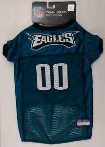 """NFL Philadelphia Eagles Pet Jersey Officially Licensed Size Large 20""""-24"""" Dog"""