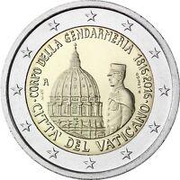 Vatikan 2 Euro 2016 Gendarmeriekorps der Vatikanstadt Stempelglanz im Folder