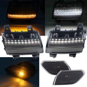EURO LED Daytime Running Light + Side Maker Light Only for Jeep Wrangler JL 18+