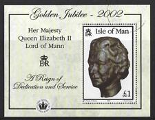 île de Man 2002 doré jubilé FEUILLET très bien utilisé