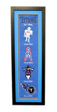 Tennessee Titans 36x12 Heritage Banner Frame with Team Logos