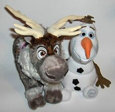 "Disney Store Frozen Reindeer Sven Plush  16"" Stuffed Animal and a  plush Olaf"