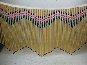 Fransenborte, Perlen Fransen Gold f. Lampen, Handtaschen, India Western Kleidung