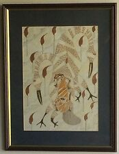 "Charmaine Tracey 1989 ""Brolga Dance"" Australian Aboriginal Style Ink Drawing"