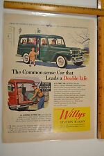 True Vintage 1950's Willys Jeep Station Wagon Station Vintage AD Hurricane 4X4