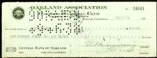 "JOHN ""JOHNNY"" LINDELL Oakland Oaks PCL Payroll check August 30, 1938"