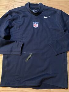 NIKE MENS NFL THERMA SHIELD LONG SLEEVE SHIRT Size 3XL Dark Blue Max Mock 921282
