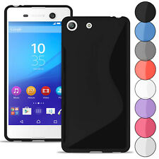 S-Line Case for Sony Xperia M5 Ultra Thin Plain Colors Bumper Shockproof Rubber
