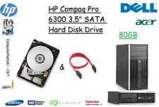 "80GB HP Compaq Pro 6300 3.5"" SATA Hard Disk Drive (HDD) Replacement / Upgrade"