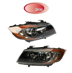 For BMW E90 E91 Pair Set Of Left & Right Headlight Assies Xenon Adaptive OEM ZKW