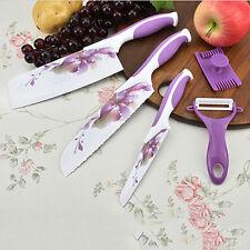 5 Pcs Multi-knife Violet Rose Stainless Steel Kitchen Vegetable Fruit Cutter Kit