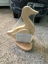 Unfinished Wood Ready to Paint Wooden Duck Decor, Diy Project 10.5 inches tall