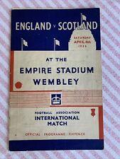 More details for rarely available england v scotland pre war international 4/4/1936 free p&p