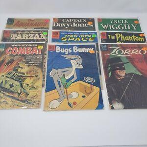 Dell Comics 1950's and 1960's ~ Lot of 9 ~ Zorro War-Stories Combat Davy Jones
