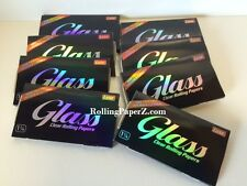 8 PACKS/50 sheets each/400 Total Glass Luxe Clear Cellulose 1 1/4 Rolling Papers