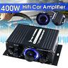 400W 12V HIFI Stereo Car LED Light 2Channel Home Power Sound Amplifier Audio