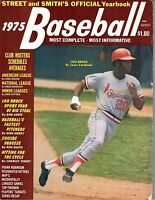 1975 Street & Smith's Baseball Yearbook magazine,Lou Brock,St. Louis Cardinals~G