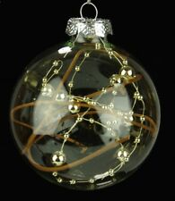 6 x A055 Clear Glass Adorable Ball Transparent Bauble Christmas Ornament
